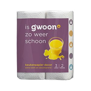 Gwoon Keukenpapier 3-lgs decor